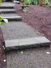 gravel path - concrete steps