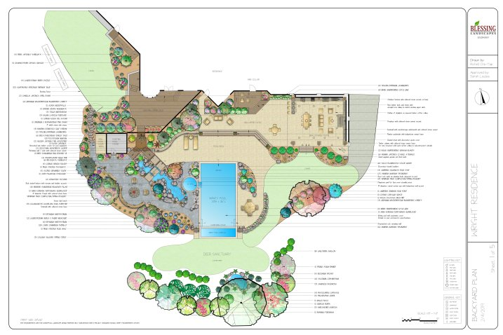 Estate Garden with infinity pool (2D)