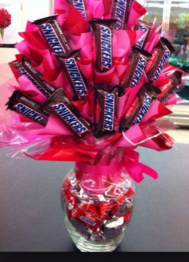 Snickers Sweet Candy Bouquet Blessings Gift Baskets