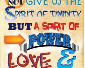 Sunday School Poster: 2nd Tim 1:7