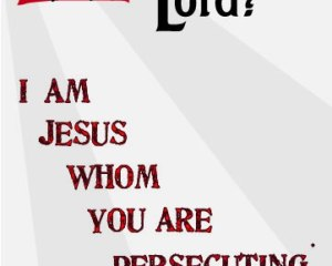 Bulletin Cover Acts 9:5 Who are you Lord?