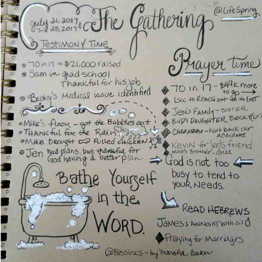 #sermonsketchnotecommunity The Gathering Prayer Service.