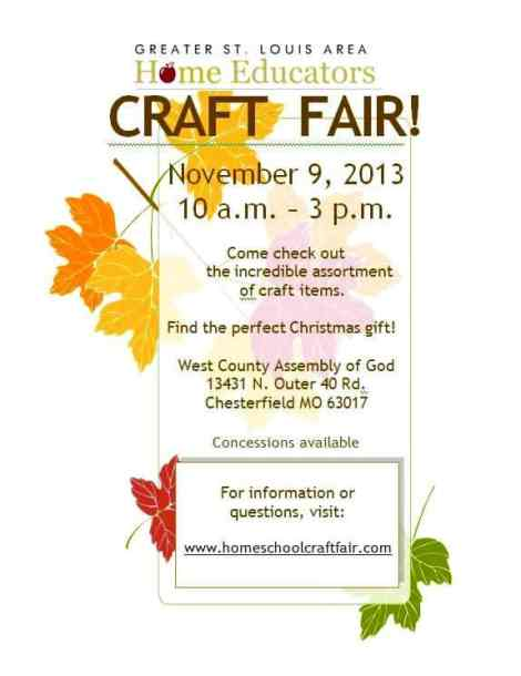 hs craft fair sign