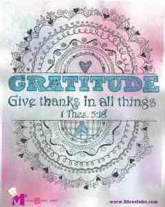 Doodle Devo Friday Gratitude 1 Thes 5:18