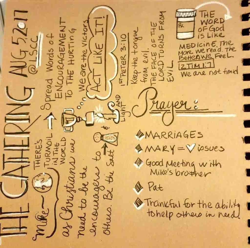The Gathering  Lifespring sermonsketchnotecommunity
