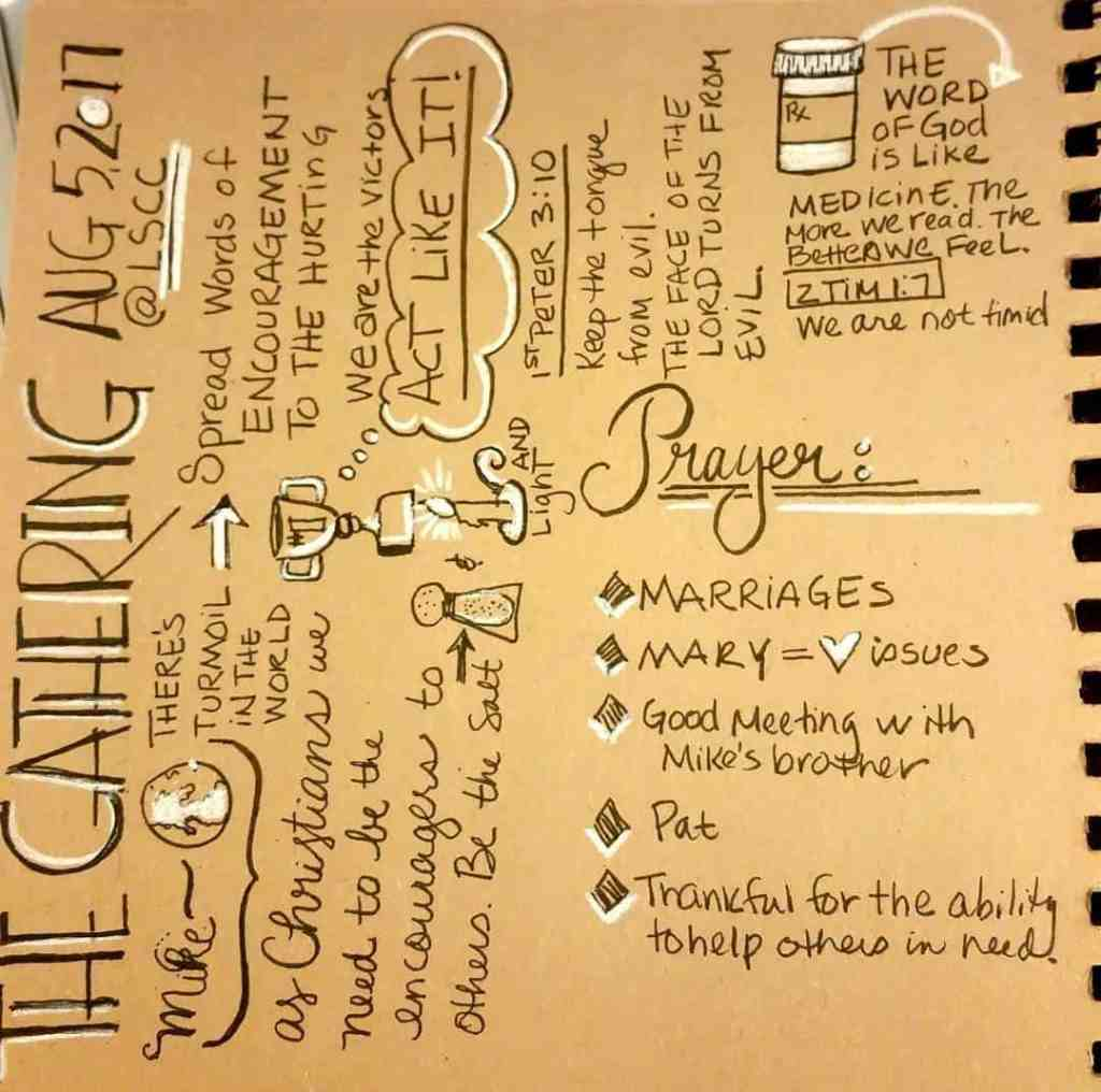 The Gathering @ Lifespring #sermonsketchnotecommunity