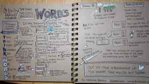 A brown paper sketchnote and a bulletin cover