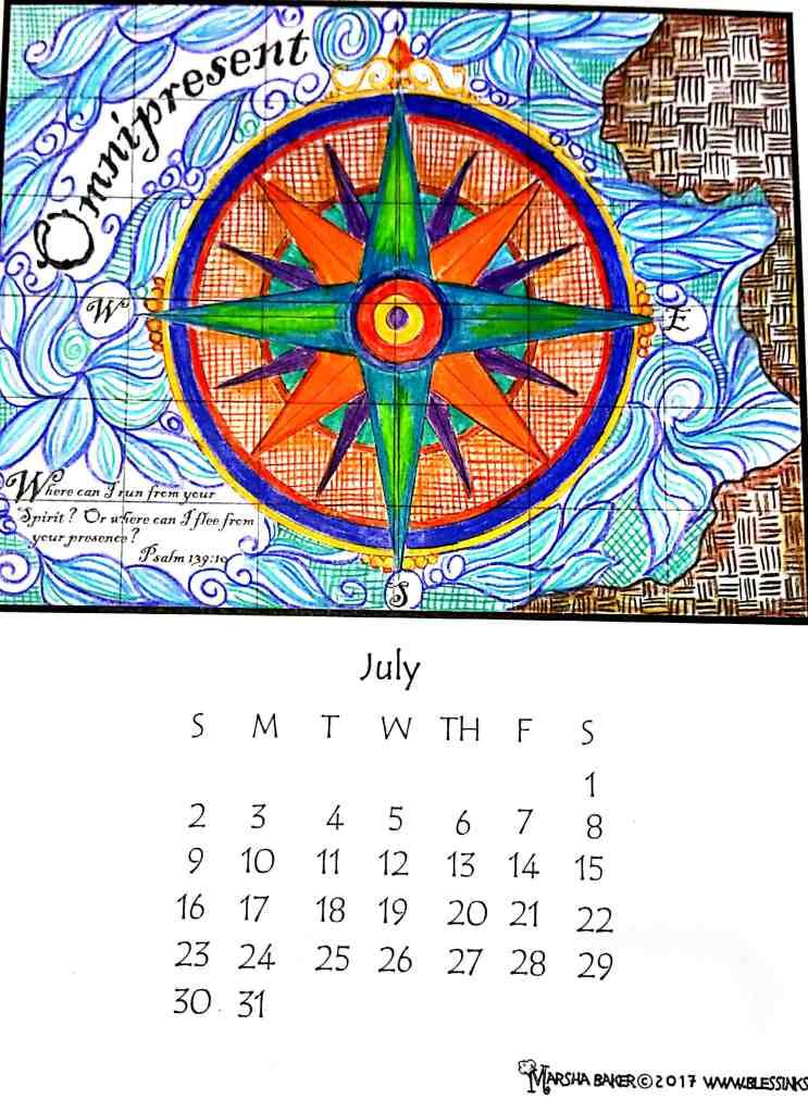 July Calendar – Omnipresent