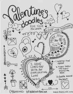 valentines doodle inspiration