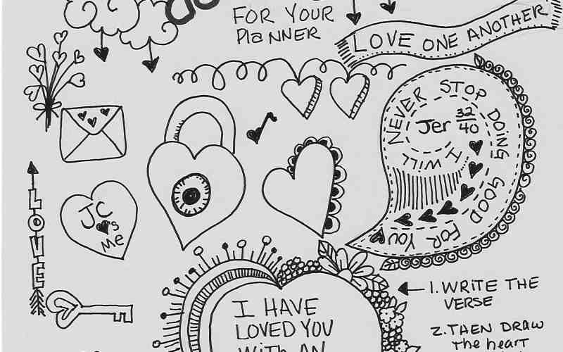 Valentine's day Doodle page inspiration