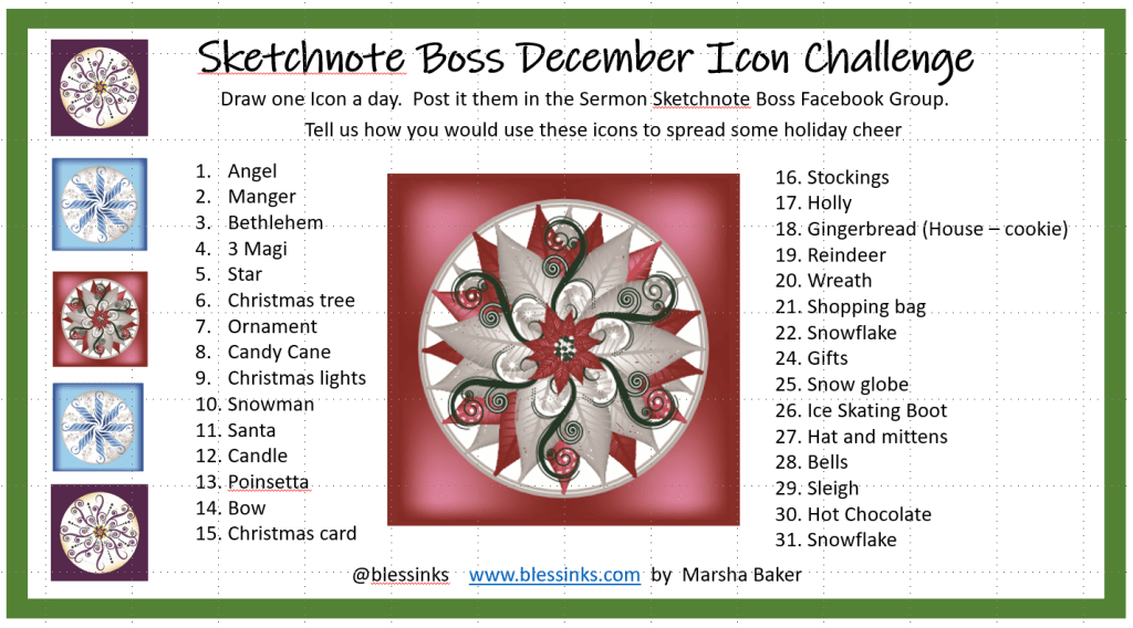 December Sketchnote Icon Challenge