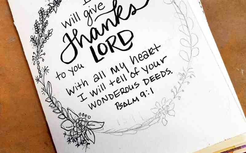 Inktober Flip-through and November Gratitude Mini Journal
