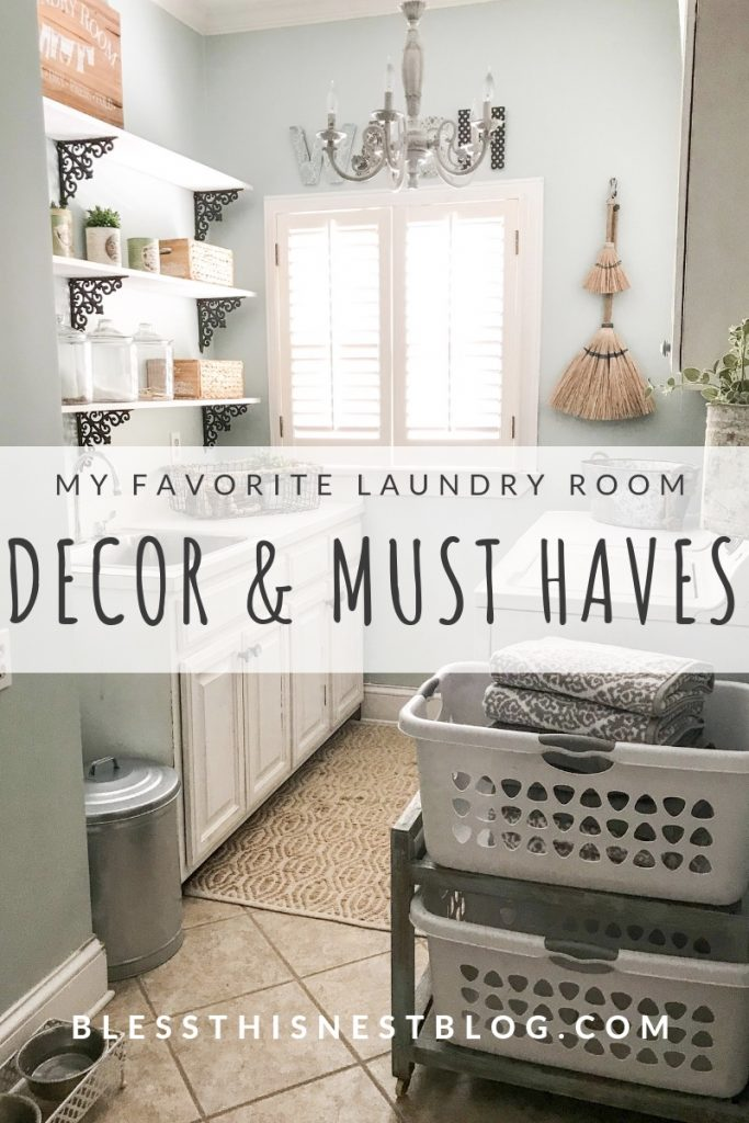 My Laundry Room Decor And Organizaion Ideas Bless This Nest Blog