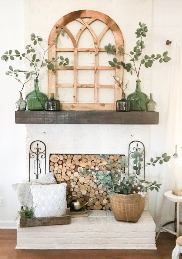 Mantel Spring Decor- My 3 Spring Must Haves