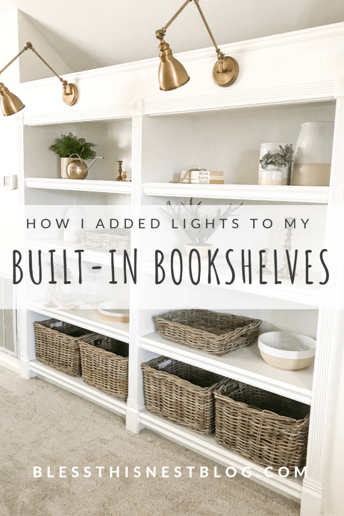 How I Added Lighting Above A Built In Bookshelves Bless This Nest Blog