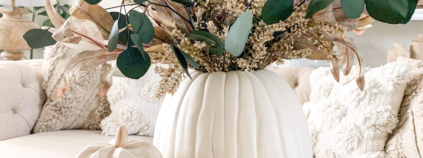 Fall DIY Pumpkin Vase