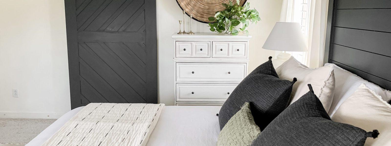 Master Bedroom Moody Barn Door Reveal