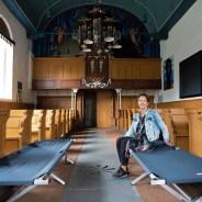 Eindelijk slapers in kerk Blessum (artikel LC)