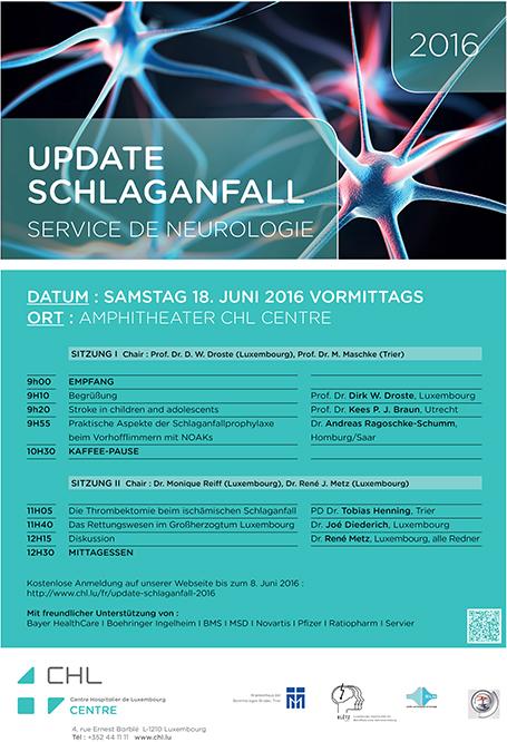 Neurologie-Affiche Schlaganfall2016