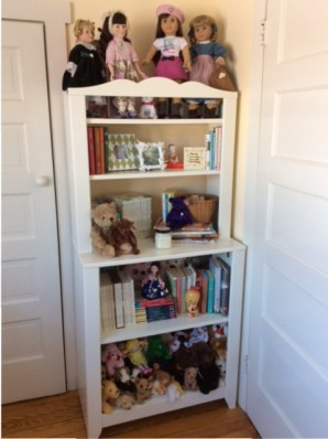 Dolls and teddies and books, oh my! Most of these toys are from my childhood, but a few of them I began collecting for Heidi; she has generously passed them on to her little sister, and I believe she watches with pride and joy from Heaven.