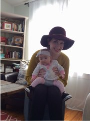 I love to wear hats, so of course I love to put headbands on the Little Person. Hopefully she won't hate me for it later ;P