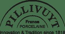 logo de la marque Pillivuyt (innovation & tradition depuis 1818, Porcelaine, France)