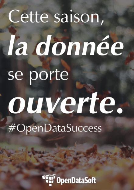Cette saison, la donnée se porte ouvert. #OpenDataSuccess. OpenDataSoft.