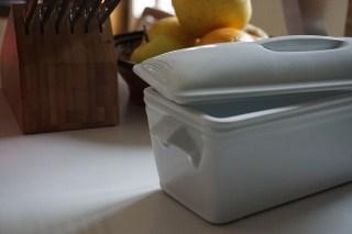gîte à pâté rectangulaire, en porcelaine blanche, avec couvercle, de Pillivuyt