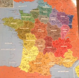 carte de France des départements, Puzzle Michèle Wilson