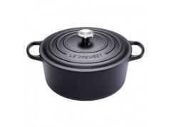 Le Creuset Tradition, la cocotte en fonte ronde noir mat 20 cm, garantie à vie, incontournable pour réaliser les plats mijotés