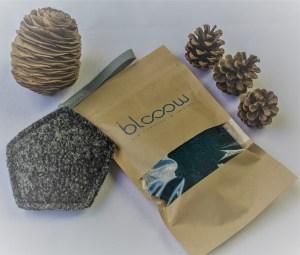 Blooow, petit hexagone en laine bouillie et charbon actif, fabriqué en France en Alsace