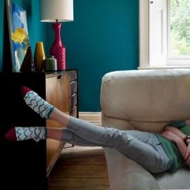 Les socquettes POISSON BORDEAUX avec ses couleurs estivales, vous permettent de vous imaginer les pieds dans l'eau