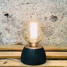 Lampe Junny, béton moulé anthracite 13 cm de circonférence 8 cm de hauteur