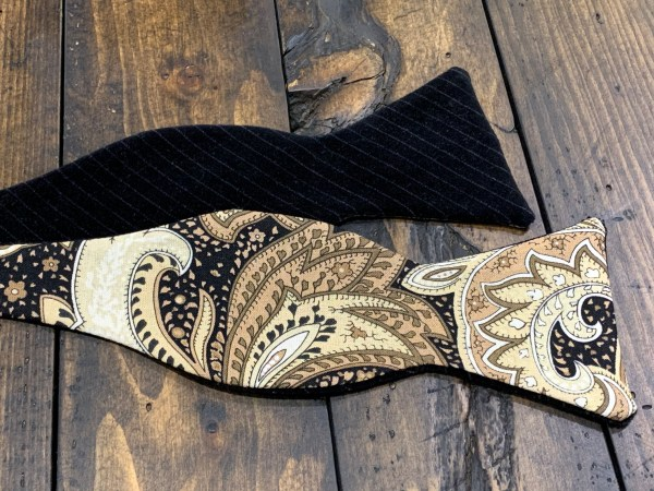 """100% Cotton/Velvet Self Bow Tie Adjustable Neck Size 14.5"""" - 20"""" Traditional Butterfly"""