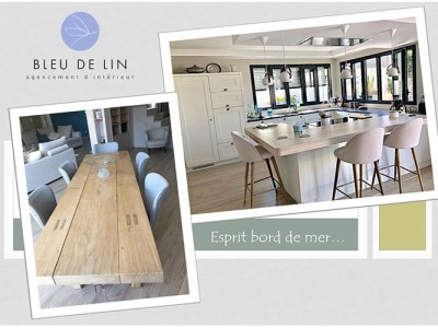 Cuisine Cottage et salle manger esprit bord de mer