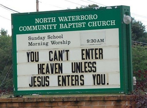 Unintentionally Sexual Church Signs (1/6)