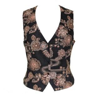 Gilet en coton Ancient Kimono noir