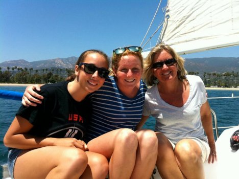 Sailing in Santa Barbara with my daughter and friends.