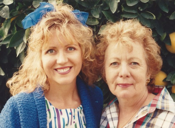 Mom and me in the early 90s.