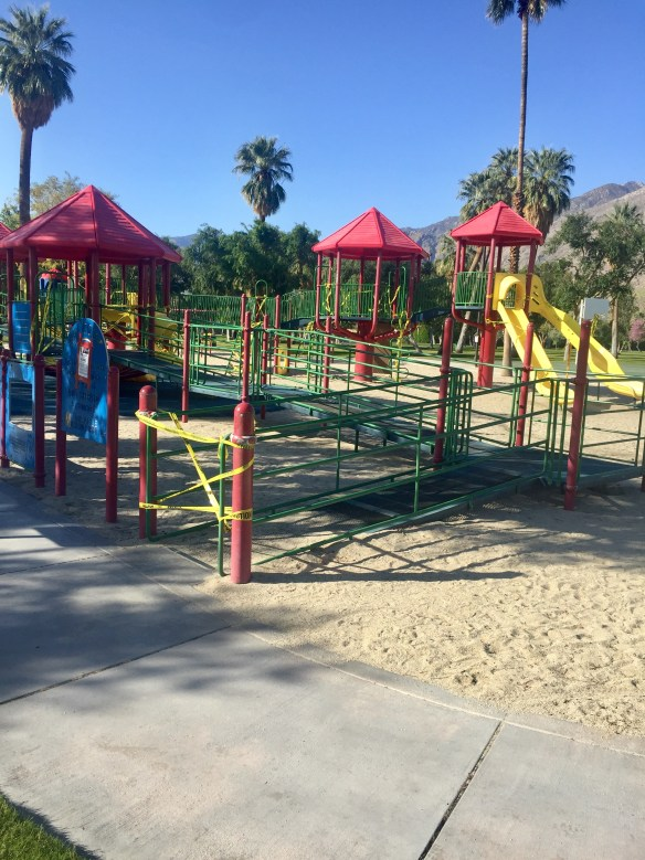 Ruth Hardy park with playground roped off for COVID