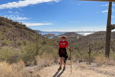 view from hike at Lake Pleasant AZ