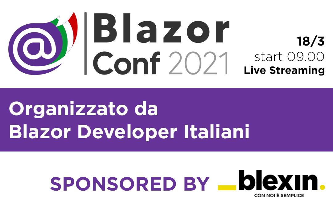 Sponsor di Blazor Conf 2021