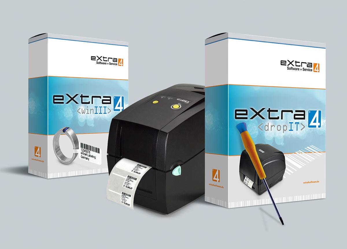 Druck-Tool eXtra4 von eXtra4 Software+Service GmbH für den Etikettendruck aus Fremdsystemen mit eXtra4.