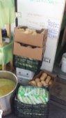 Soeben geliefertes Gemüse