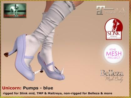 Bliensen - Unicorn - pumps - blue Kopie