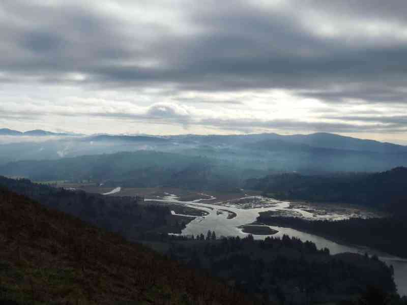 View from Cascade Head with the Salmon River