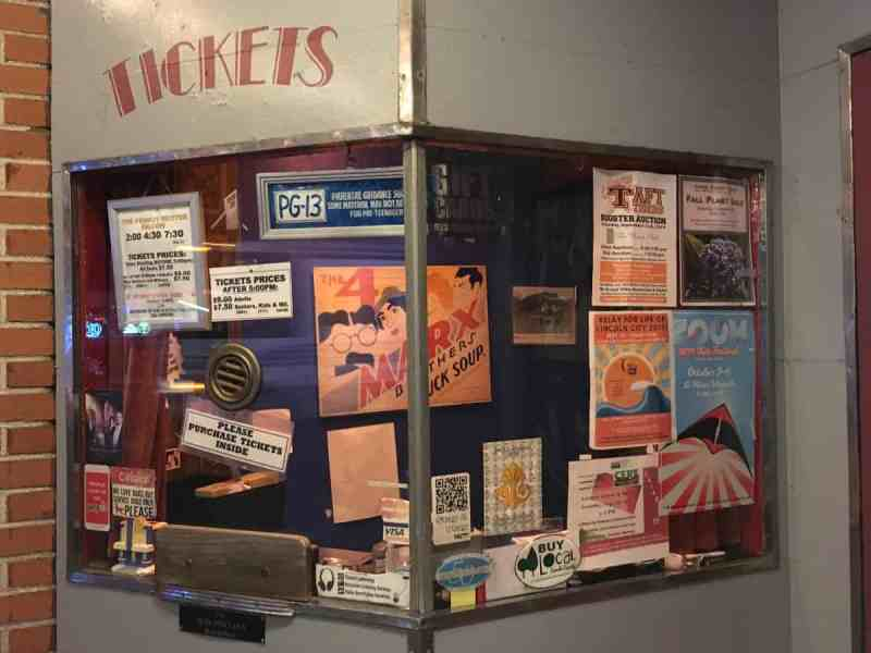 The ticket booth of The Bijou Theatre in Lincoln City, Oregon