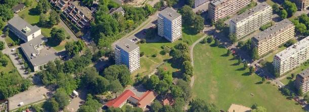 Sameiene Blindernveien 2 og 4 ligger ved Marienlystparken i Oslo