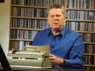 "April 1, 2012 - Tommy Edison filming ""How Blind People Write Braille"""