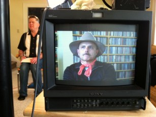 April 15, 2012 - Tommy Edison & Joe Pantoliano filming their interview
